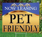 "PET FRIENDLY - 18"" x 24"" Sign - Goldness Gracious (Blue) Theme"