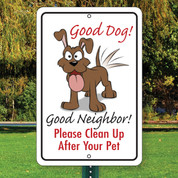"Good Dog! Aluminum Sign - 12"" x 18"""