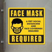 "Face Mask Required - 10"" x 10"" Styrene Sign"