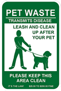 Legal Requirement Sign for Pet Waste Stations (PWC-027)