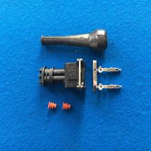 Blue Fuel Injector Cosworth WTS Sensor with Boot Bosch EV1 2 Pin Mini Timer Plug