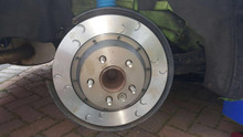 Focus RS Mk2 Rear Brake Discs and Bells Kit (original size) Mountune Style Grooves