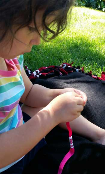 Fold Over Elastic Tutorial for Necklace