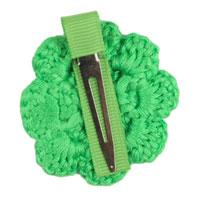 Lime Green Crochet Clip Flower
