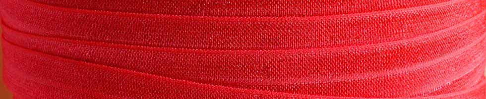Solid Fold Over Elastic - Reds