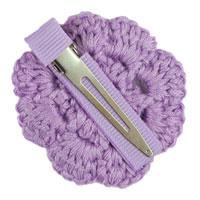 Violet Crochet Clip Flower