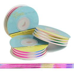 Rainbow Sash on Pink Fold Over Elastic