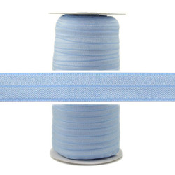 Misty Blue Wholesale Fold Over Elastic 100yd