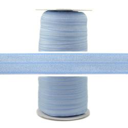 Misty Blue Wholesale Fold Over Elastic 100yd