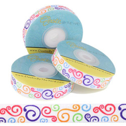 Colorful Swirls Fold Over Elastic