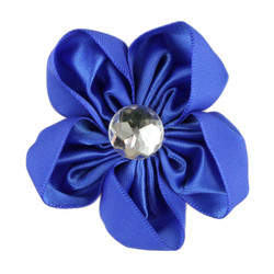 Royal Blue Satin Flower 2.5""