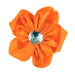Orange Satin Flower 2.5""