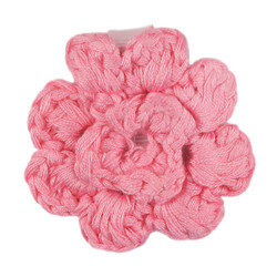 Light Pink Crochet Clip Flower