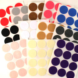 "1 1/2"" Adhesive - 144 Felt Circles 12 Color Pack"