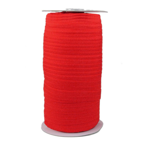 Red Wholesale Fold Over Elastic 100yd
