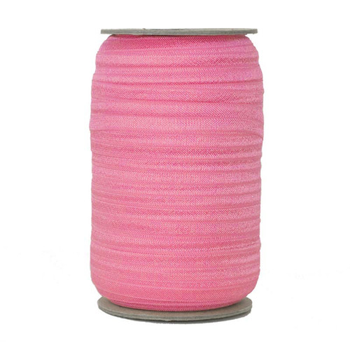 Pink Gladiolus Wholesale Fold Over Elastic 100yd