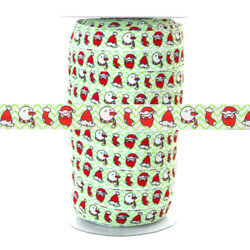 "Santa Snowman Hat 100yd 5/8"" Fold Over Elastic"