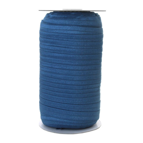 "Stormy Blue Wholesale 5/8"" Fold Over Elastic 100yd"