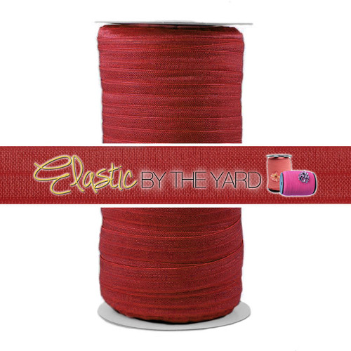 "Scarlet Red Wholesale 5/8"" Fold Over Elastic 100yd"