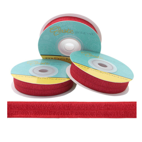 "Scarlet Red 5/8"" Fold Over Elastic"