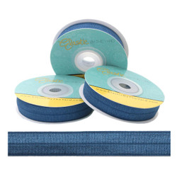 "Stormy Blue 5/8"" Fold Over Elastic"
