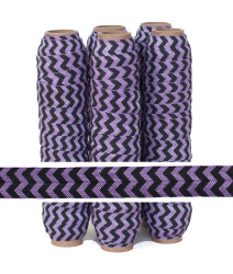 Purple and Black Chevron Fold Over Elastic