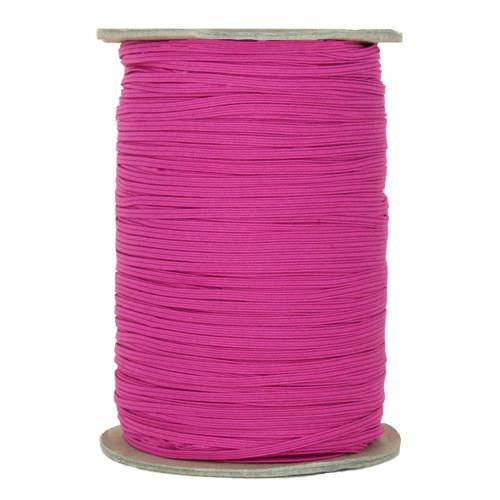 "Hot Pink Skinny Elastic 1/8"" 288 Yard Roll"