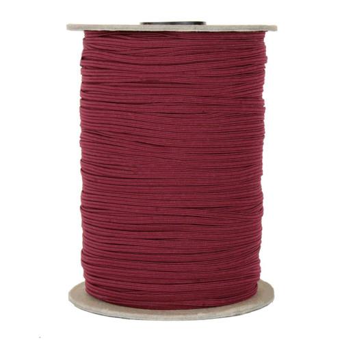 """Cranberry Skinny Elastic 1/8"""" 288 Yard Roll"""