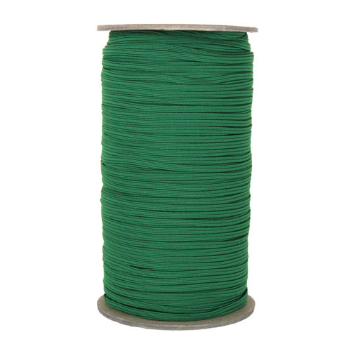 "Kelly Green Skinny Elastic 1/8"" 288 Yard Roll"