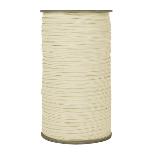 "Light Ivory Skinny Elastic 1/8"" 288 Yard Roll"