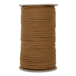 "Chocolate Brown Skinny Elastic 1/8"" 288 Yard Roll"