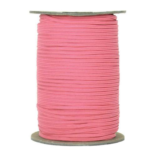 "Medium Pink Skinny Elastic 1/8"" 288 Yard Roll"