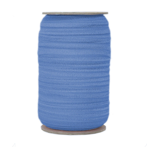 Antique Blue Fold Over Elastic 100yd