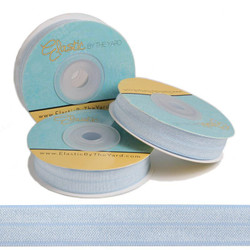 "Icy Blue 5/8"" Fold Over Elastic"