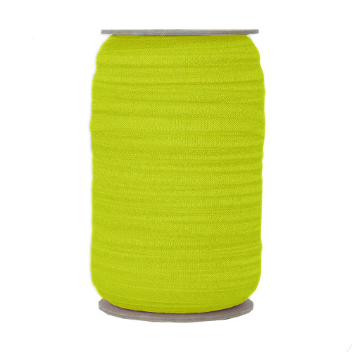 "Dazzling Yellow 5/8"" Fold Over Elastic"