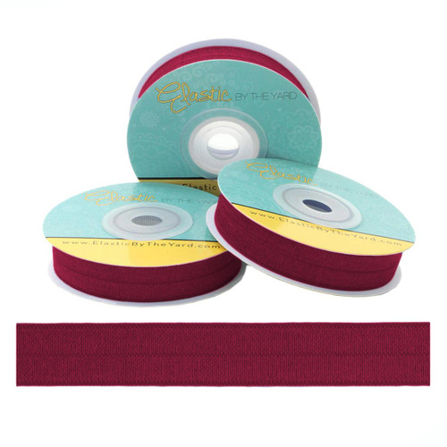 "Wine 5/8"" Fold Over Elastic"