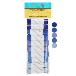 Bella BLUE 10yd Multi Pack of Solid Fold Over Elastic