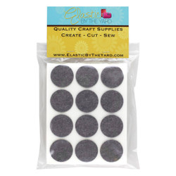 "1 1/2"" Smoke Gray Adhesive Felt Circles 12 to 240 Dots"