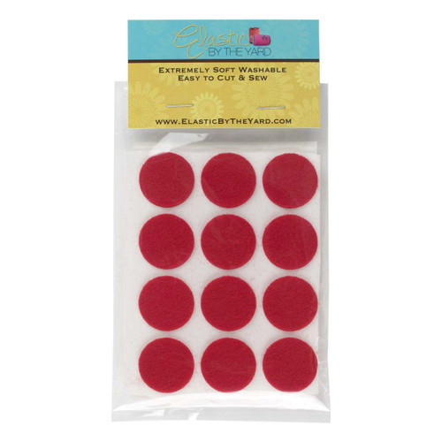 "1"" Red Adhesive Felt Circles 12 to 240 Dots"