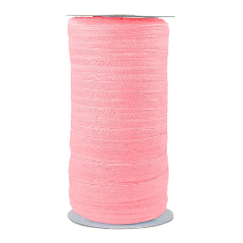 Taffy Pink Wholesale Fold Over Elastic 100yd