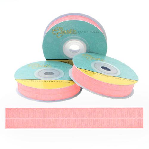 Taffy Pink Fold Over Elastic