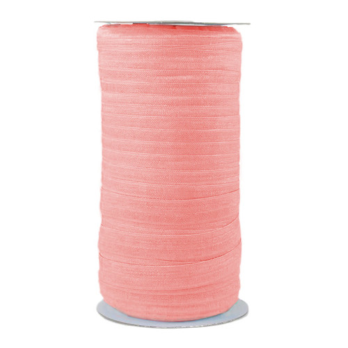 Peony Pink Wholesale Fold Over Elastic 100yd