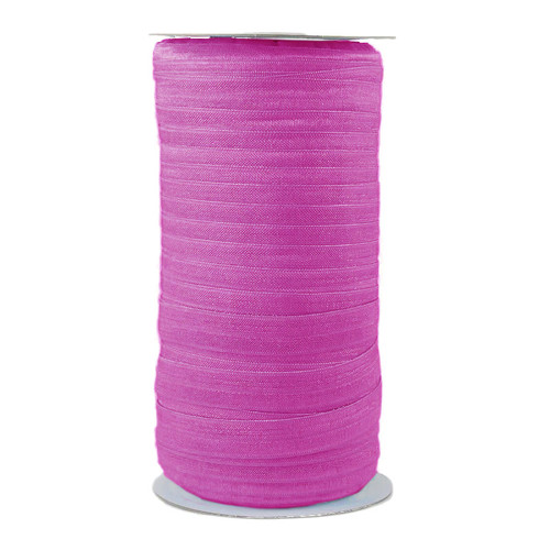 Fuchsia Pink Wholesale Fold Over Elastic 100yd