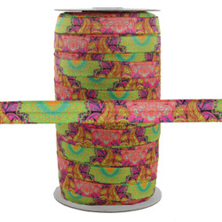 "Terra Blooms 5/8"" Fold Over Elastic 100yd"