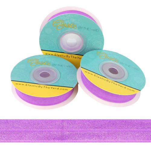 """Lilac 5/8"""" Fold Over Elastic"""