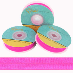 "Hot Pink 5/8"" Fold Over Elastic"