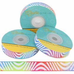 "Rainbow Swirl 5/8"" Fold Over Elastic"