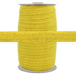 "Gold Fairy Dust 5/8"" Fold Over Elastic 100yd"