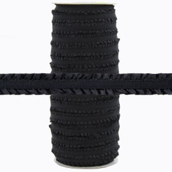 "Fringe Black 1/2"" Fold Over Elastic 100yd"