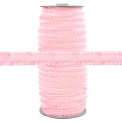 "Fringe Baby Pink 1/2"" Fold Over Elastic 100yd"